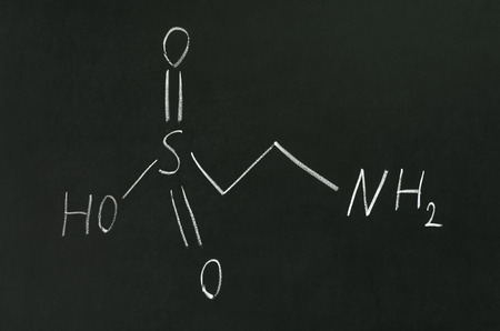 Chemical formula of taurine on a blackboard photo
