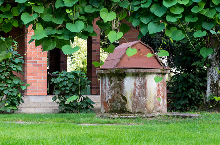 homesteads: Old well in the middle of rural homesteads