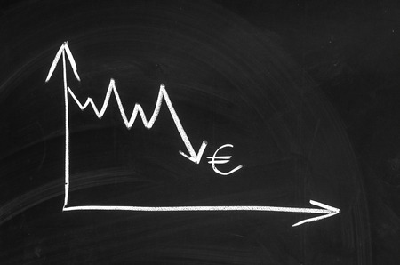 devaluation: The graph showing the euro devaluation