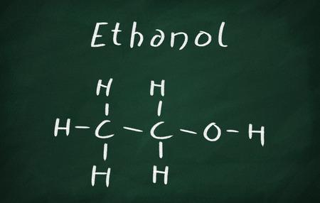 ethanol: On the blackboard draw ethanol structural formula
