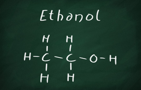 structural formula: On the blackboard draw ethanol structural formula