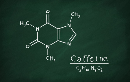 Chemical Formula Of Caffeine On A Blackboard Stock Photo Picture