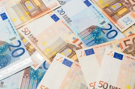 twenty: The background make from twenty ant fifty euro banknotes