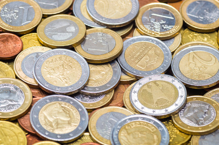 Background made from different countries euro coins