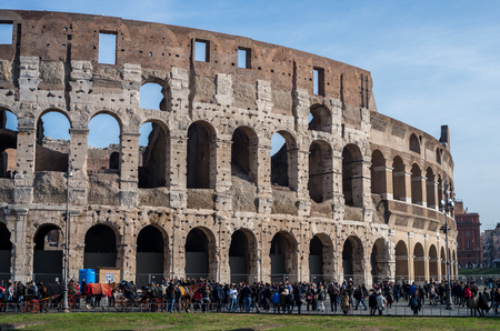 famous place: Coliseum. Famous place at Italy. In Rome Stock Photo