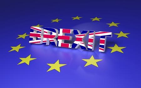 gb: The text symbolize GB leaving EU. 3D rendering