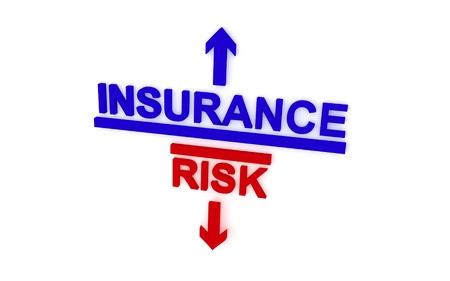 luminance: What choose: insurance or risk. 3D rendering.
