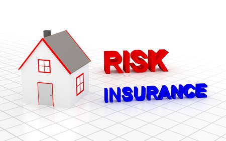 must: You must choose house insurance. 3D rendering. Stock Photo