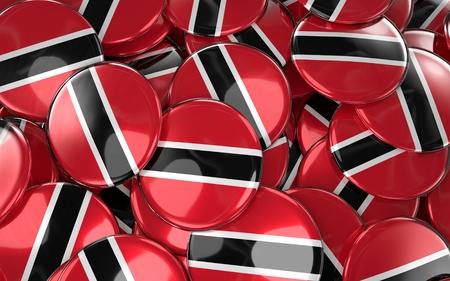Trinidad and Tobago Badges Background. 3D Rendering
