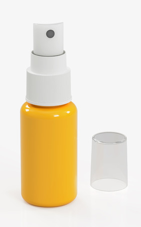 3D rendering of spray bottle, isolated on white background