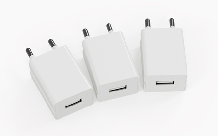 The charger for the phone. 3D rendering image. Stockfoto