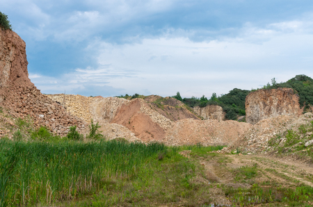 Limestone mining for cement plant somewhere in Lithuania.