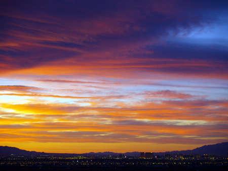 nv: Sunset over Las Vegas - Henderson, NV