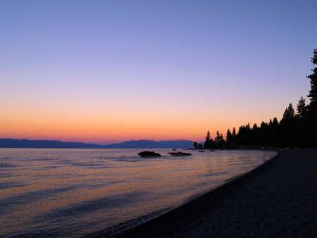 tahoe: Sunset over lake - Lake Tahoe - Nevada