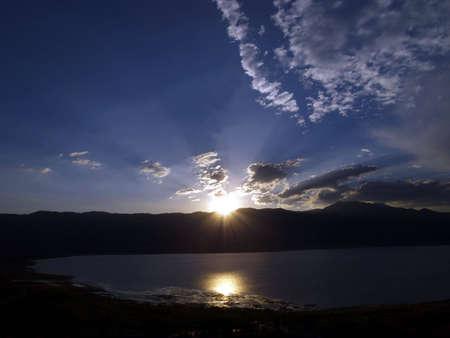 일몰 호수 - Washoe 호수 주립 공원 - Washoe, 네바다