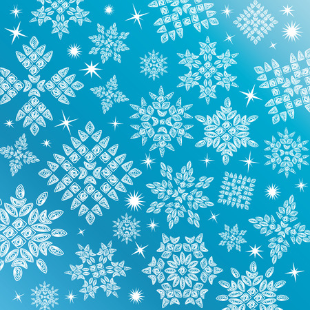 Vector Snowflakes Set Stock Vector - 8704339