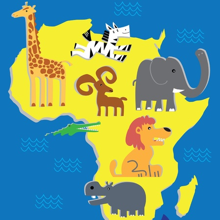 Animals of Africa Иллюстрация