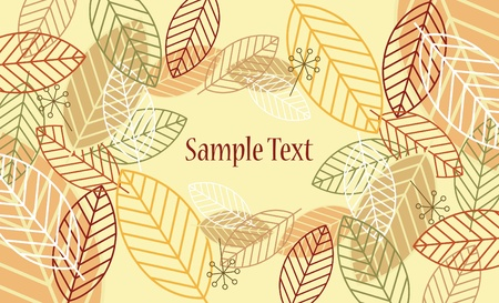 leaf background Stock Vector - 9308120