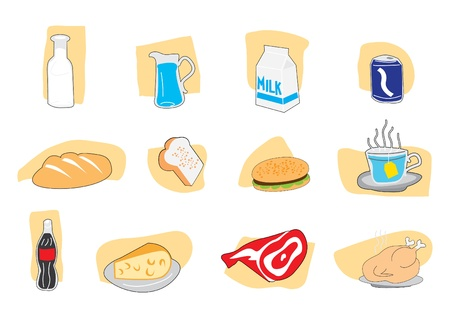 food icons  Illustration