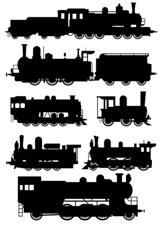 Steam locomotive Stock Vector - 9932751