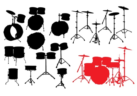 drum Stock Vector - 9932750