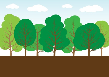 cartoon style trees Stock Vector - 10127480