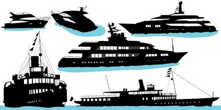 motor yacht vector  Vector
