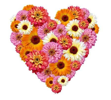 heart of many flowers  Stock Photo