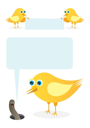 Birds talk message