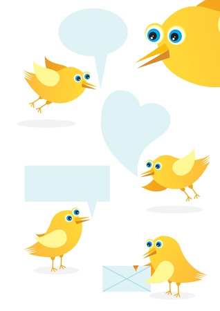 Speech bubble with cute bird  Stock Vector - 10433845