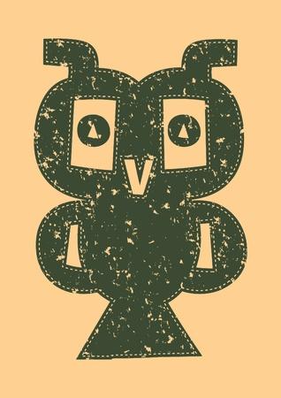illustration owl  Vector