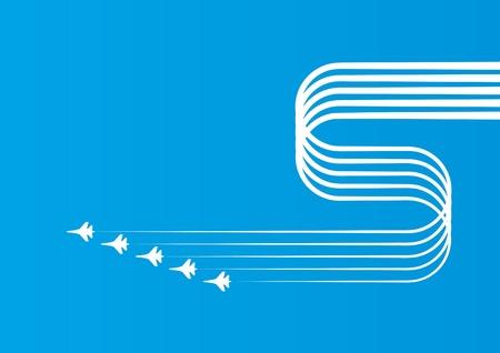 airplane in sky Stock Vector - 10634753