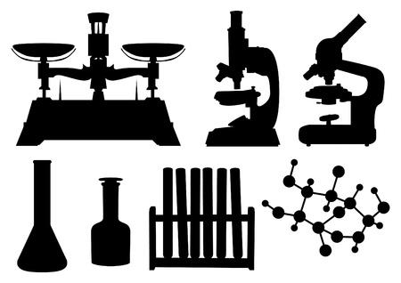 laboratory tools set Stock Illustratie