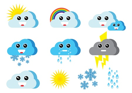 merry weather icons Stock Vector - 10661056