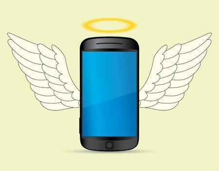 smartphone angel  Illustration