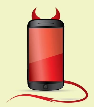 smartphone devil Stock Vector - 10768559