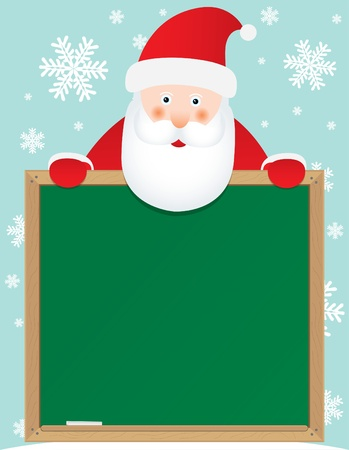 santa claus banner background, for christmas holidays  Vector