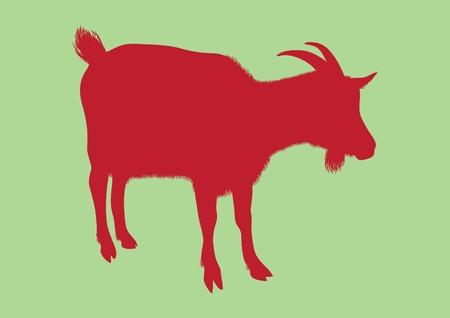 Goat silhouette vector Stock Vector - 11987301