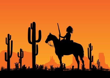 native indian: l�der de los indios americanos Vectores