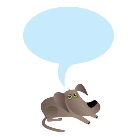little dog with speech bubble  Vector