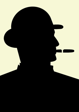 vintage cigar: Gentleman smoking a cigar