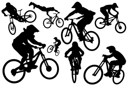 Cyclist silhouettes Stock Vector - 13658814