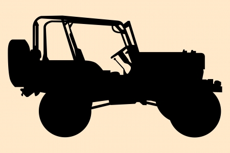 jeep: Jeep silhouette.