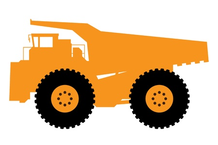 quarry:  heavy dump truck  Illustration