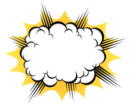 cloud after the explosion Stock Vector - 15100743