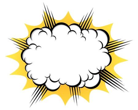 battu: nuage apr�s l'explosion