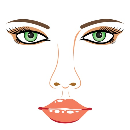 Girl face Stock Vector - 15304916