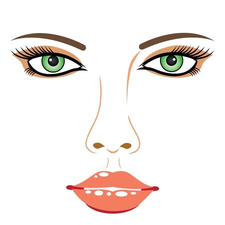 Girl face Stock Vector - 15304916