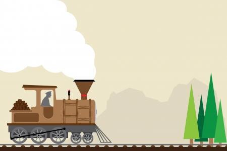 retro train   Illustration