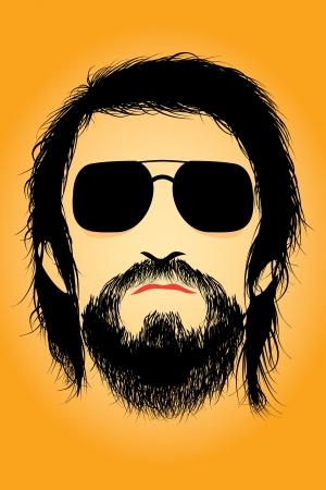 sideburn: Bearded man silhouette